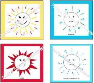 Emotiekaarten Blij, Boos, Verdrietig en Moeilijk. Deze emotiekaarten helpen je om om te leren gaan met je emoties!