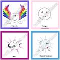 Emotiekaarten: Vrij voelen, Verlegen, Moe, Uitgeput. Deze emotiekaarten helpen je om om te leren gaan met je emoties!